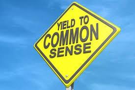 yield to common sense