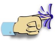 cartoon finger in dyke
