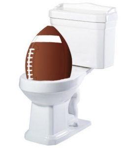 super bowl toilet