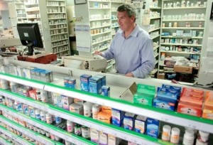 pharmacist counter